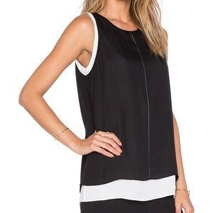 Vince silk double layer tank top